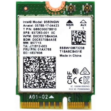 Carte WIFI Intel 9560NGW Dual Band Wireless-AC 9560 - 9560NGW R