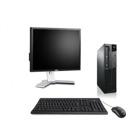 Pack Ordinateur de bureau reconditionné - Lenovo ThinkCentre M73 SFF - 8Go - 500Go HDD - Ecran19