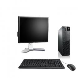 Pack Ordinateur de bureau reconditionné - Lenovo ThinkCentre M73 SFF - 8Go - 250Go HDD - Ecran19