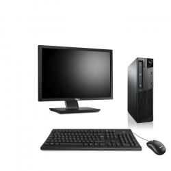Pack Ordinateur de bureau reconditionné - Lenovo ThinkCentre M73 SFF - 8Go - 500Go HDD - Ecran22