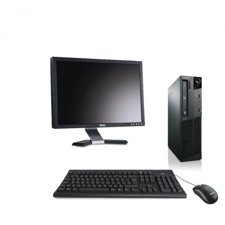 Pack Ordinateur de bureau reconditionné - Lenovo ThinkCentre M73 SFF - 8Go - 250Go HDD - Ecran20