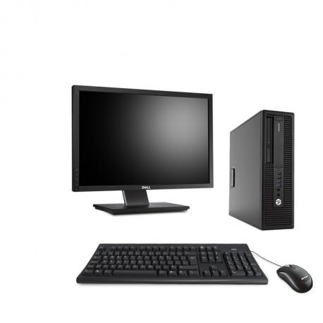 HP EliteDesk 800 G2 DM - 8Go - 2 To HDD - Ecran 22 - Linux