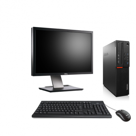 """Lenovo ThinkCentre M800 SFF - 8Go 500Go HDD - Ecran 24"""""""