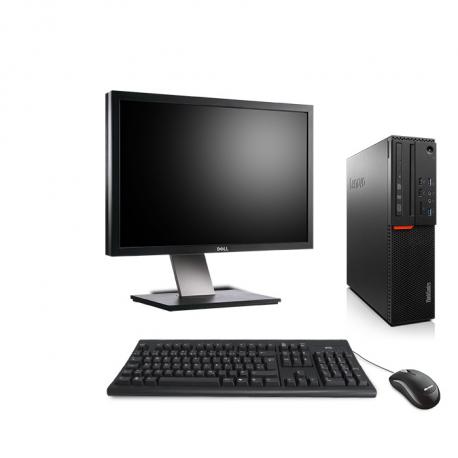 """Lenovo ThinkCentre M800 SFF - 16Go 240Go SSD - Ecran 24"""""""