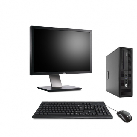 HP EliteDesk 800 G2 DM - 8Go - 2To HDD - Ecran24