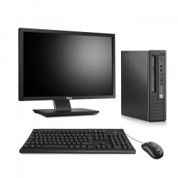 HP EliteDesk 800 G1 USFF - 8Go - SSD 120Go - Ecran22
