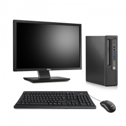 HP EliteDesk 800 G1 USFF - 8Go - SSD 120Go - Ecran22 - Linux