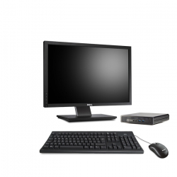 HP EliteDesk 800 G1 Desktop Mini - 8Go - 120Go SSD - Ecran22