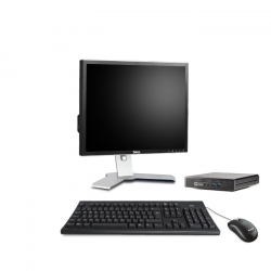 HP EliteDesk 800 G1 Desktop Mini 4Go 500Go - Ecran 19