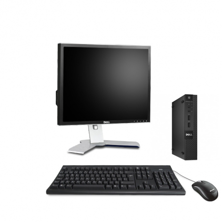 Dell OptiPlex 3020 Micro - 4Go - HDD 500Go - Ecran19 - Linux