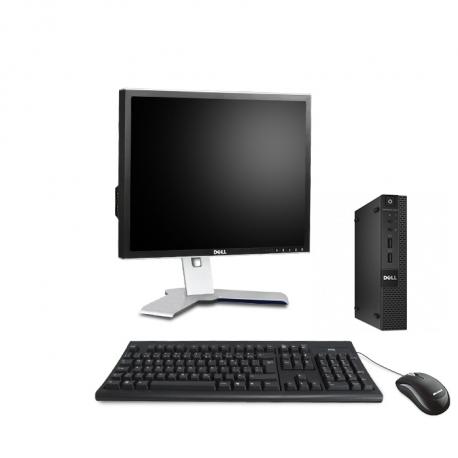 Dell OptiPlex 3020 Micro - 4Go - HDD 500Go - Ecran 20 - Linux
