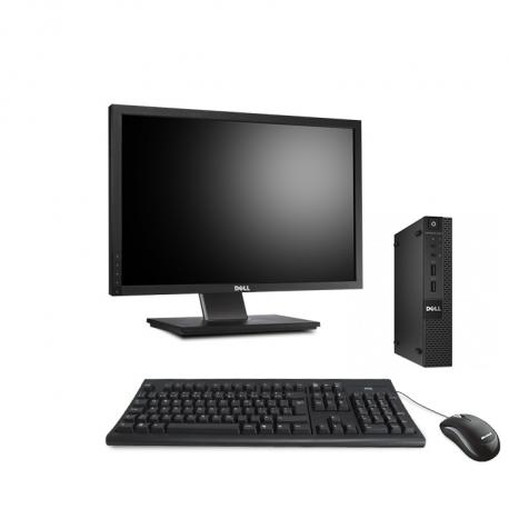 Dell OptiPlex 3020 Micro - 4Go - HDD 500Go - Ecran 22 - Linux
