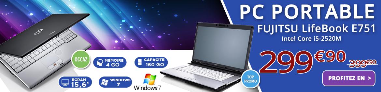 PC d'occasion Fujitsu Lifebook E751