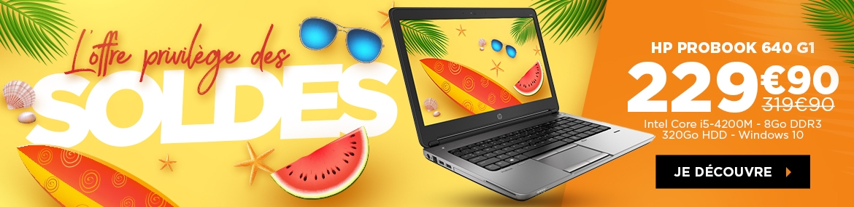 L'offre privilège des soldes - HP Probook 640 G1
